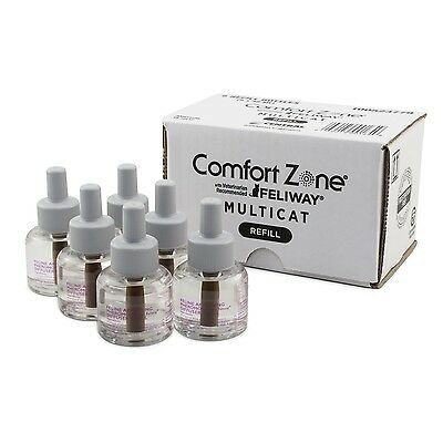Comfort Zone Multicat Diffuser Refill (6 Pack) New
