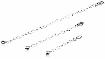 """Sterling Silver 3 Piece of 1"""" 2"""" and 4"""" Extenders Set sterling-silver New"""