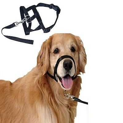Pet Dog Nylon Adjustable Loop Bite Bark Control Easy Quick Fit Dog Muzzle... New