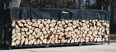 Woodhaven 12' Firewood Rack and Seasoning Cover New