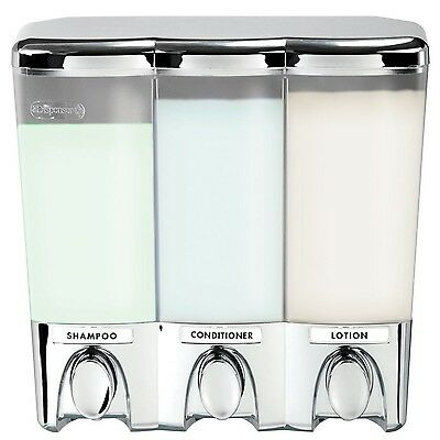Better Living Products Clear Choice Dispenser III Three Chamber Shower Di... New