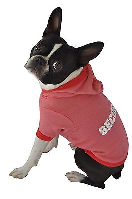Ruff Ruff and Meow Large Dog Hoodie Security Red New