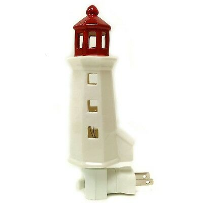 Dreamerzzz... Peggy's Cove Lighthouse Porcelain Night Light New