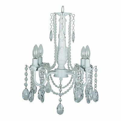 Yosemite Home Decor 1322-4MI-WH 4-Light Chandelier White Finish New