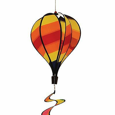 In the Breeze Stripe Hot Air Balloon Wind Spinner New