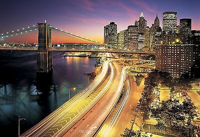 Komar Brewster 8-516 Wall Mural with Paste NYC Lights 12-Foot 1-Inch by 8... New