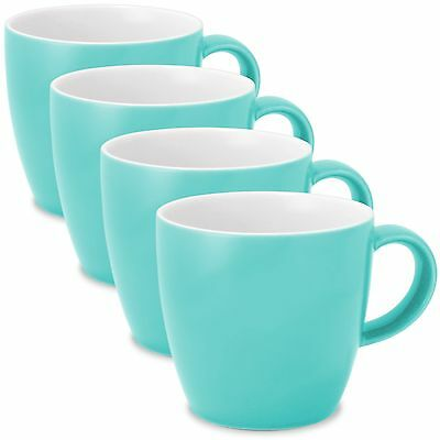 FORLIFE Uni Tea/Coffee Cup with Handle (Set of 4) 11-Ounce Turquoise New