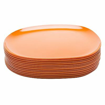 Zak Designs Moso Round Plate 10-Inch Orange Set of 12 New
