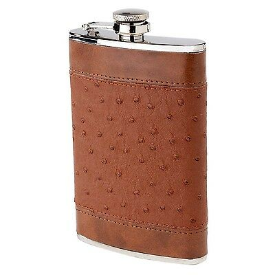 Oenophilia Flask Brown Ostrich 8-Ounce New