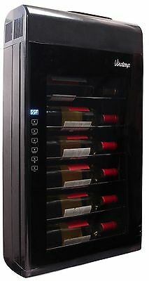 Vinotemp VT-6TED-WB 6-Bottle Wall-Mounted Thermoelectric Wine Cooler Black New