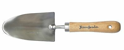 Tierra Garden 35-1800 Stainless Steel Hand Trowel with Ash Wood Handle New
