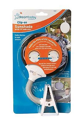 Dreambaby L261 Clip On Sun Shade with UV Indicator New