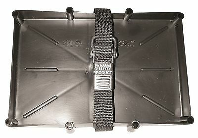 T-H Marine 24 Series Battery Tray with Rod Hold Downs New