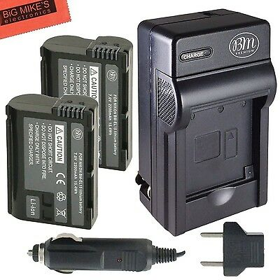 BM Premium Pack Of 2 EN-EL15 Batteries And Battery Charger Kit for Nikon ... New