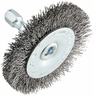 Forney 72727 Wire Wheel Brush Coarse Crimped with 1/4-Inch Hex Shank 2-In... New