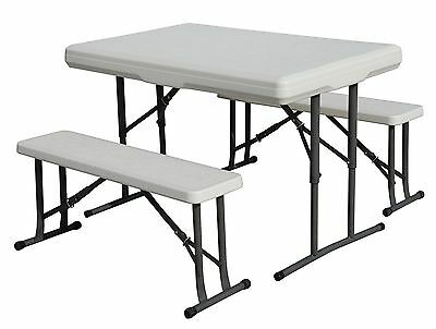 Stansport Heavy Duty Picnic Table and Bench Set 1 New
