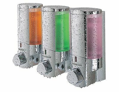 Better Living AVIVA Three Chamber Dispenser Chrome New
