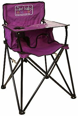 Ciao! Baby Portable High Chair Purple with Carrying Case New