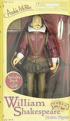 Accoutrements William Shakespeare Action Figure New