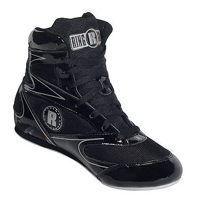 Ringside 3/4 Top Boxing Shoe (Black 11) Black New