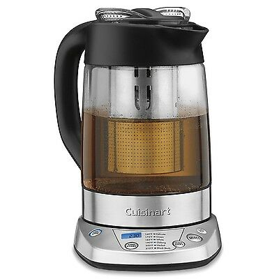 Cuisinart TEA-100C PerfecTemp Programmable Tea Steeper and Kettle New