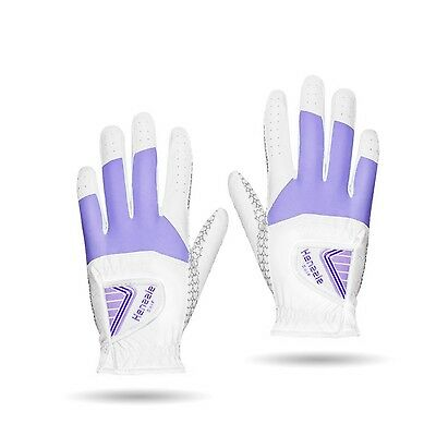 KMG Henzzle Women's Golf Gloves Synthetic Leather Both Hand 3 pairs Pack ... New
