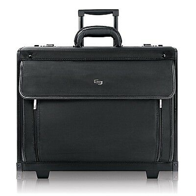 "Solo Classic 15.6"" Laptop Rolling Catalog Case with dual combination lock... New"
