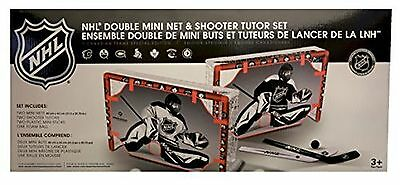 NHL Double Mini Net & Shooter Tutor Set (7 Canadian Teams Special Edition) New
