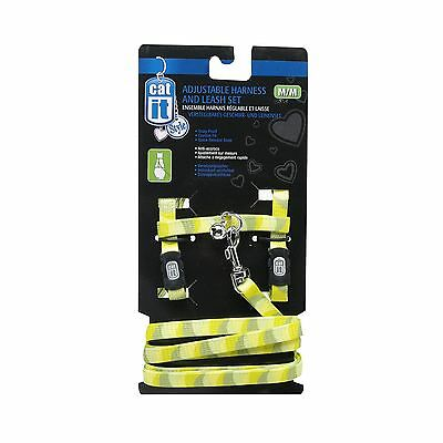 Catit Style Adjustable Harness and Leash Set Small Jungle Stripes New