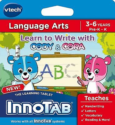 VTech InnoTab Learn to Write with Cody and Cora Standard Packaging New