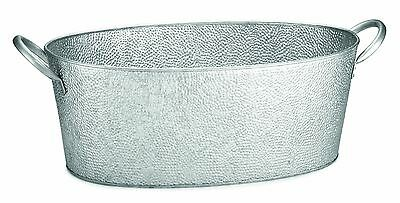 TableCraft Oval Beverage Tub Galvanized Pebbled Texture 23 by 9.25 by 7.7... New