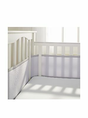 BreathableBaby Deluxe Breathable Mesh Crib Liner Gray New