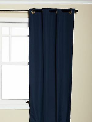 Eclipse 42-Inch by 63-Inch Microfiber Grommet Blackout Window Panel Navy New