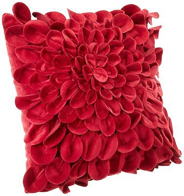 Brentwood Starburt Petals pillow 16-Inch Red New