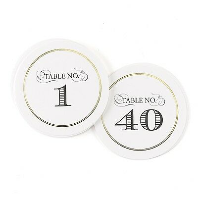 Hortense B. Hewitt 40 Count Golden Elegance Table Numbers Black/Gold New