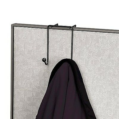 Fellowes Wire Partition Additions Double Coat Hook (75510) New