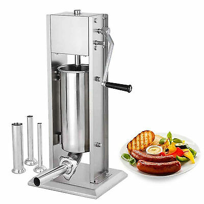 Brand New 5 Liter Commercial Sausage Stuffer Meat Filler Stainless Steel