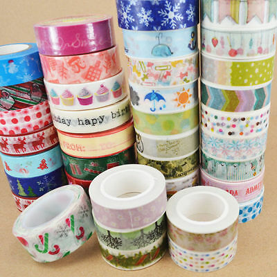 Sticky Washi Sticker Fashion Tape Christmas 1 pc Adhesive 1.5cm×10m DIY