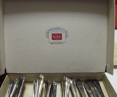 Vintage Rodd Cutlery Pieces Collection of Dessert Spoons and Forks ESPN