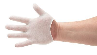 Size Small - 12 Pairs White Coin Jewelry Silver Inspection Cotton Lisle Gloves