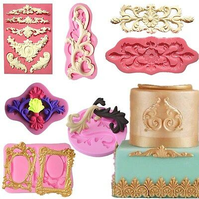Silicone Sculpted Flower Lace Mold Cake Chocolate Mold Fondant Decorating Mold