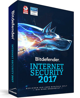Bitdefender Internet Security 2017 | 1 PC 1 Jahr | Download