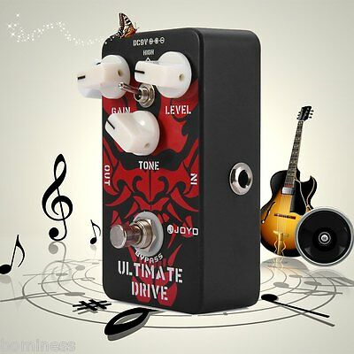 JOYO JF-02 True Bypass Ultimate Drive Electric Guitar Effect Pedal with Aluminum