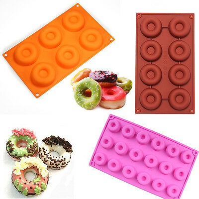 Silicone Donut Doughnut Chocolate Muffin Pan Sweet Ice Tray Soap Cake Mold Mould