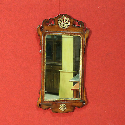 SPECIAL MIRROR WOOD PAINT GOLDEN NUT ITALY PERIOD '900 H 94 cm