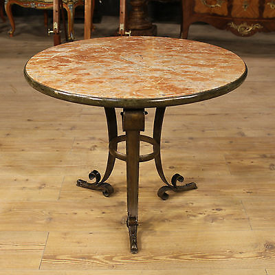 Low table italian living room furniture marble Art Déco antique style cabinet XX