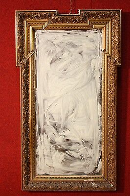 BELLA MIRROR GOLDEN FRENCH CARVED WOOD CHALK PERIOD END '800 (H 109 cm)