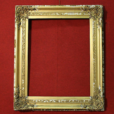 GRANDE FRAME FRENCH WOOD CHALK PAINT And GOLDEN PERIOD FIRST '900 H 168 cm