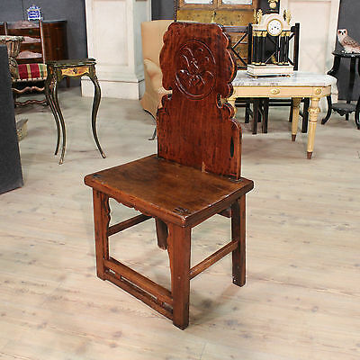 CHAIR SMALL ARMCHAIR FOR ROOM WOOD PAINT CHINESE PERIOD '900 ANTIQUES H 107 cm
