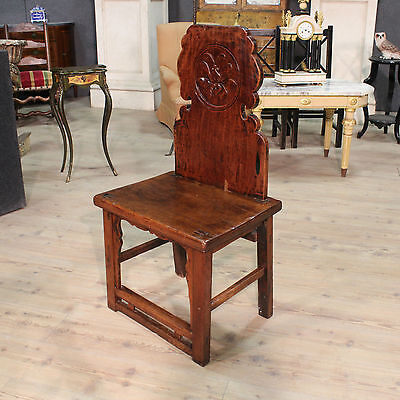 Chair armchair chinese wood painted antique style 900 art oriental XX furniture